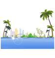 Seaside Cityscape View vector image vector image