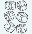 Set dices vector image vector image