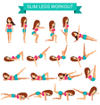 Set of cardio exercise for slim legs workout vector image vector image