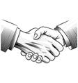 sketch handshake vector image vector image