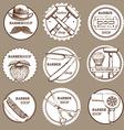Sketch set of barbershop logotypes vector image vector image
