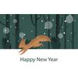 stylish winter squirrel vector image vector image
