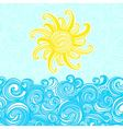 Summer background sea sun waves vector image vector image