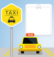 Taxi with Sign Front View vector image vector image