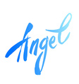 text angel lettering vector image