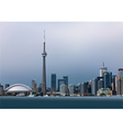 View of Toronto vector image vector image