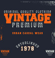 vintage premium t-shirt stamp vector image vector image