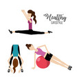 woman healthy lifestyle to do exercise vector image vector image