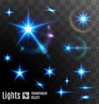 Set of transparent stars vector image