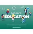 Back to school for education banner vector image