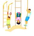 Climbing kids vector image