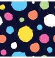 Abstract hand drawn dots seamless pattern vector image