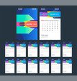 2019 colorful calendar desk calendar modern vector image