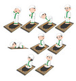a group procedures praying doing boy vector image vector image