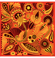 Acrylic painting flower ethnic design