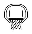 basketball game hoop and net equipment recreation vector image