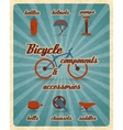 Bicycle parts poster vector image vector image