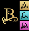 capital letter for monograms and logos beautiful vector image