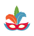 carnival mask icon flat cartoon style vector image vector image