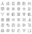 chemical research linear icons set vector image vector image