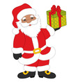 Christmas African American Santa Claus vector image