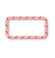 christmas candy frame isolated blank christmas vector image vector image