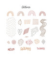 collection flat hand drawn contemporary vector image vector image