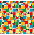 colorful seamless with squares vector image vector image
