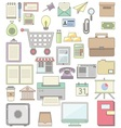 Cute business Icon collections vector image vector image