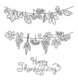 doodle thanksgiving decorative garland freehand vector image vector image