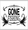 fishing emblem badge and design elements vector image vector image