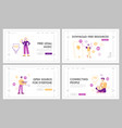 free download landing page template set vector image vector image