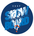 freeride snowboarder in motion sport logo or vector image vector image