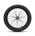 front wheel bicycle bmx vector image vector image