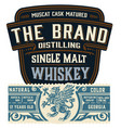 full liquor label design with front and back sides vector image vector image