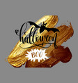 halloween boo - hand lettering holiday design on vector image vector image