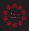 Hand Drawn Wedding Rose Frame vector image