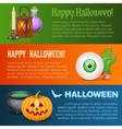 Happy Halloween three horizontal banners vector image vector image