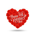 happy valentines day message design on rose vector image vector image