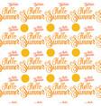 hello summer sun shine seamless pattern vector image