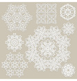 highly detailed paper cut white snowflakes vector image vector image