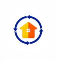 house realty protection arrow logo vector image vector image