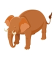 Isometric Brown Elephant vector image vector image