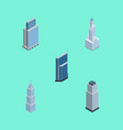 isometric skyscraper set of residential urban vector image vector image