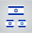 israeli trio flags vector image