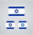 israeli trio flags vector image vector image