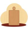 kitchen cut board utensil icon vector image vector image