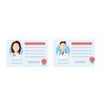 license doctor set vector image vector image