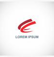 loop abstract company logo vector image