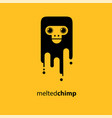melted chimp vector image